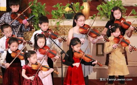 children playing violin 小提琴
