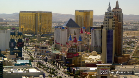 New York New York, MGM Grand, Tropicana, Excalibur, Luxor, Mandalay Bay 等