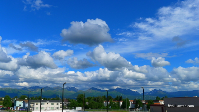 Anchorage 的藍天白雲