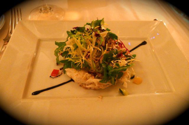 Thalassa Restaurant: Colossal Crabmeat Salad Frisse, Arugula, Truffle Vinaigrette