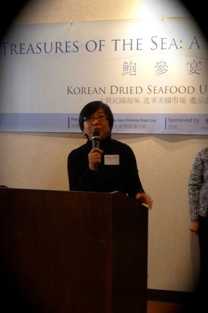 Wendy Chan at Treasures of the Sea - Korean Dried Abalone and Sea Cucumber