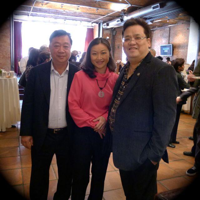 紐約林氏集團主席林建中 John Lam 及星島報業美東行政總裁梅建國 Robin Mui