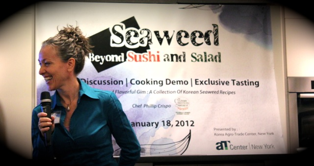 Andrea Beaman at Korean Seaweed - Beyond Sushi and Salad - New York event