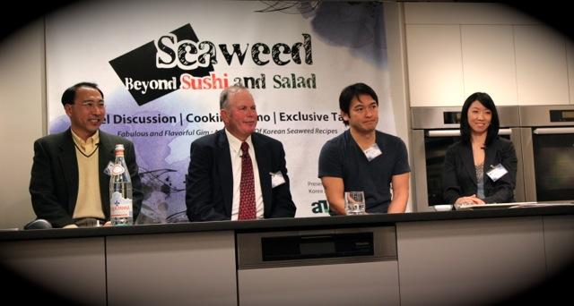 Charles Yarish, Jang Kyun Kim, Bun Lai of Miya, Maggie Moon of FreshDirect at Korean Seaweed - Beyond Sushi and Salad - New York event