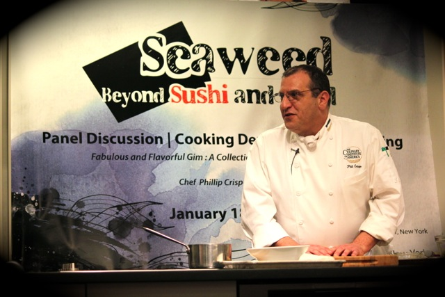 Phillip Crispo of Culinary Institute of America at Korean Seaweed - Beyond Sushi and Salad - New York event