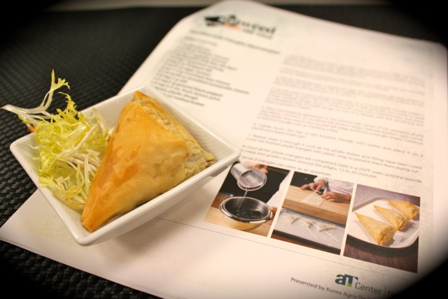 脆皮釀紫菜餡角 Gim Filled Phyllo Triangles - Korean Seaweed - Beyond Sushi and Salad - New York event
