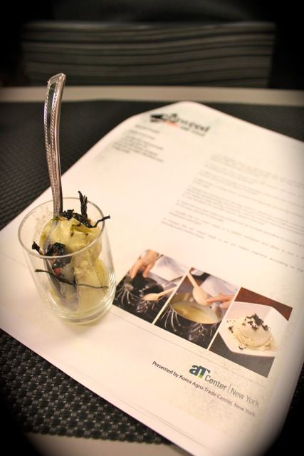 紫菜冰淇淋 Gim Ice Cream - Korean Seaweed - Beyond Sushi and Salad - New York event
