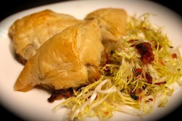 脆皮釀紫菜餡角 Gim Filled Phyllo Triangles - Korean Seaweed - Beyond Sushi and Salad - New York event