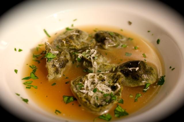 紫菜蘑菇苔雲吞 Truffle of the Sea Pasta with Mushroom Duxelle Filling - Korean Seaweed - Beyond Sushi and Salad - New York event