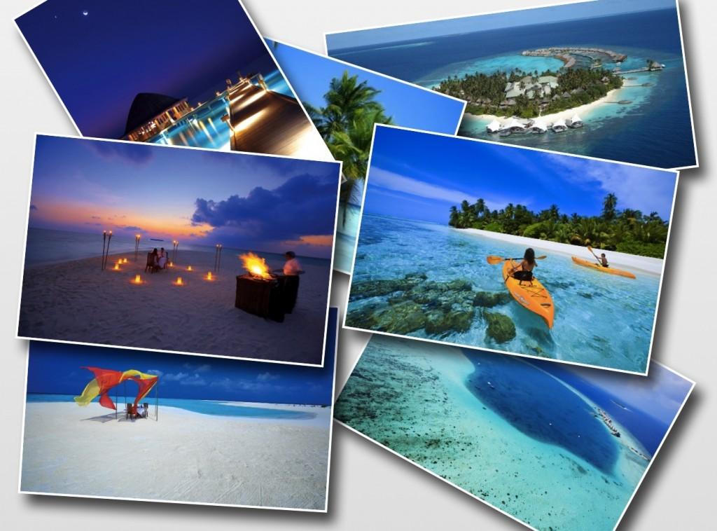 網上馬爾代夫優美景色圖像合成